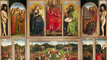 Ołtarz Baranka Mistycznego - dzieło braci Huberta i Jana van Eycków. Od momentu powstania w latach 1426-32 jest dumą Gandawy. W 24 kwaterach malarze umieścili ponad 250 postaci. Na centralnym panelu w dolnej części otwartego ołtarza wyobrażona jest tzw. adoracja Baranka Mistycznego, od którego ołtarz wziął swą nazwę.