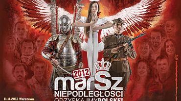 Plakat promujący Marsz Niepodległości 2012