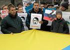 Manifestowali pod ambasadą Rosji. Zamknięta była Belwederska
