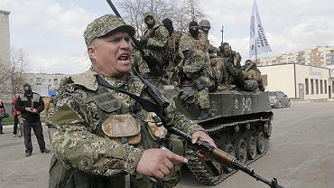 Prorosyjscy separatyści na wschodzie Ukrainy - Słowiańsk