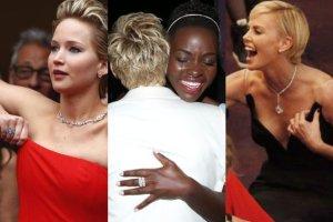 Penelope Cruz i Robert De Niro tu� przed wyj�ciem na scen�, Lupita, gdy us�ysza�a, �e to ona zdobywa Oscara [NOWE ZDJ�CIA]
