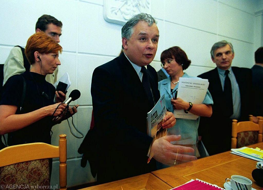 Lech Kaczyński w 2000 roku, kiedy był ministrem sprawiedliwości i prokuratorem generalnym