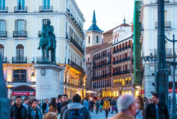 Madryt, plac Puerta del Sol.