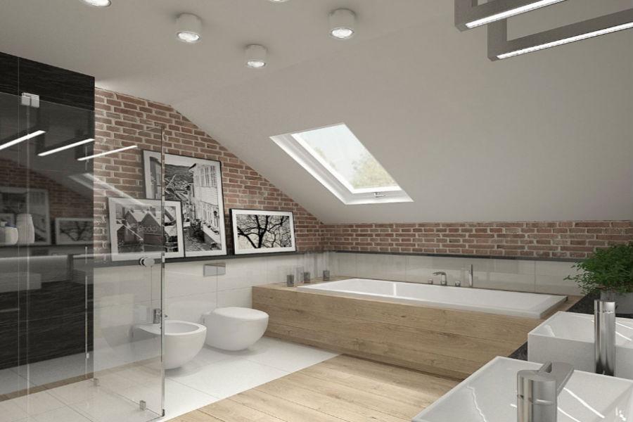 Praktyczna łazienka na poddaszu
