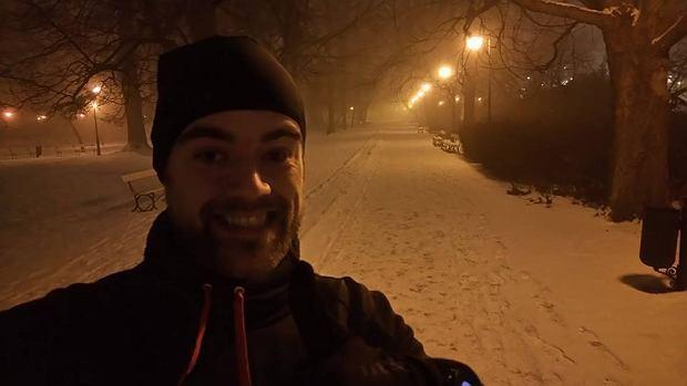 Trening w Parku Ujazdowskim