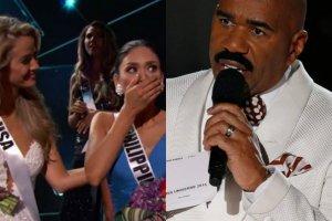 Steve Harvey pomylił się czytając wyniki Miss Universe. Teraz z tego żartuje. I to ŚWIETNIE