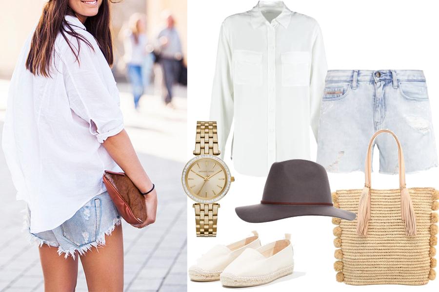9feecd4e4a koszula biała w letniej stylizacji   http   www.whowhatwear.co.