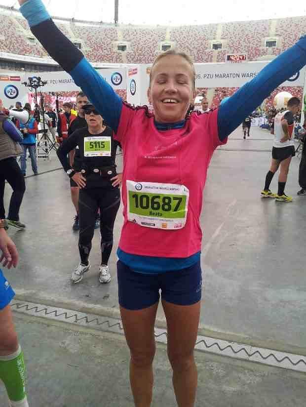 Beata w Warszawskim Maratonie 2013