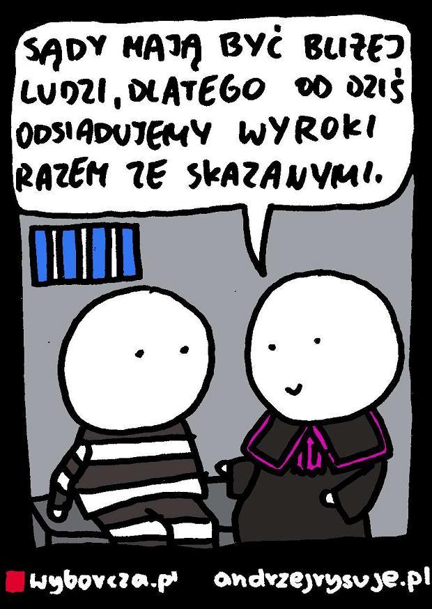 Andrzej Rysuje   S�dziowie - Andrzej rysuje 18.09.2016 -