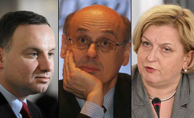 Andrzej Duda, Zdzis�aw Krasnod�bski, Anna Fotyga
