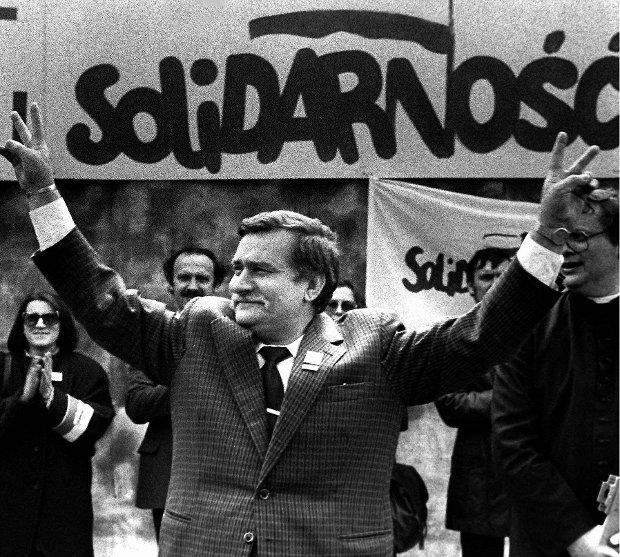 Lech Wa��sa w maju 1989 roku