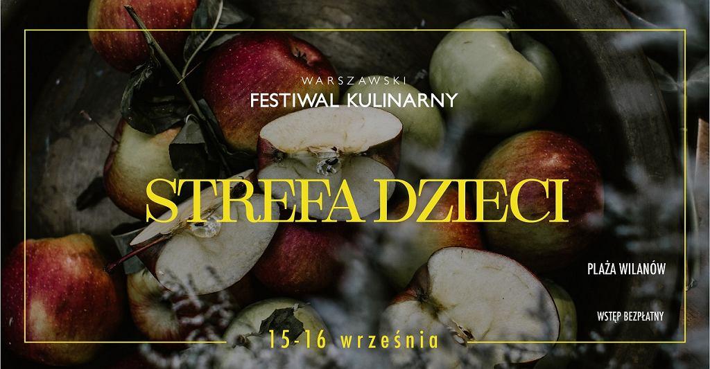 Strefa dzieci na Warszawskim Festiwalu Kulinarnym / materiały promocyjne