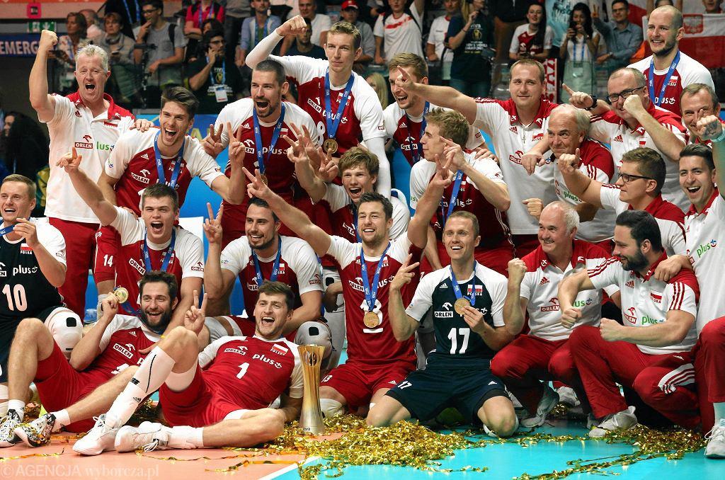 Radość polskich siatkarzy po zdobyciu mistrzostwa świata