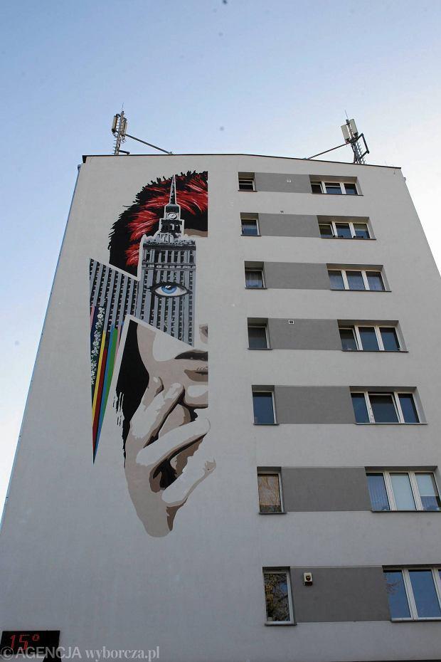 David bowie ma mural na oliborzu zobacz jak powstawa for Mural ursynow