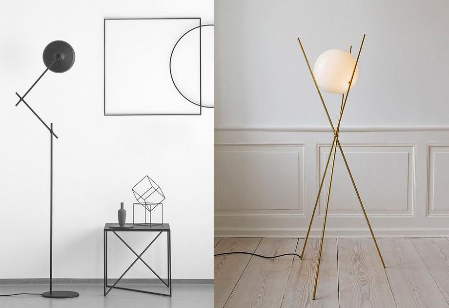 Minimalistyczna lampa stojąca