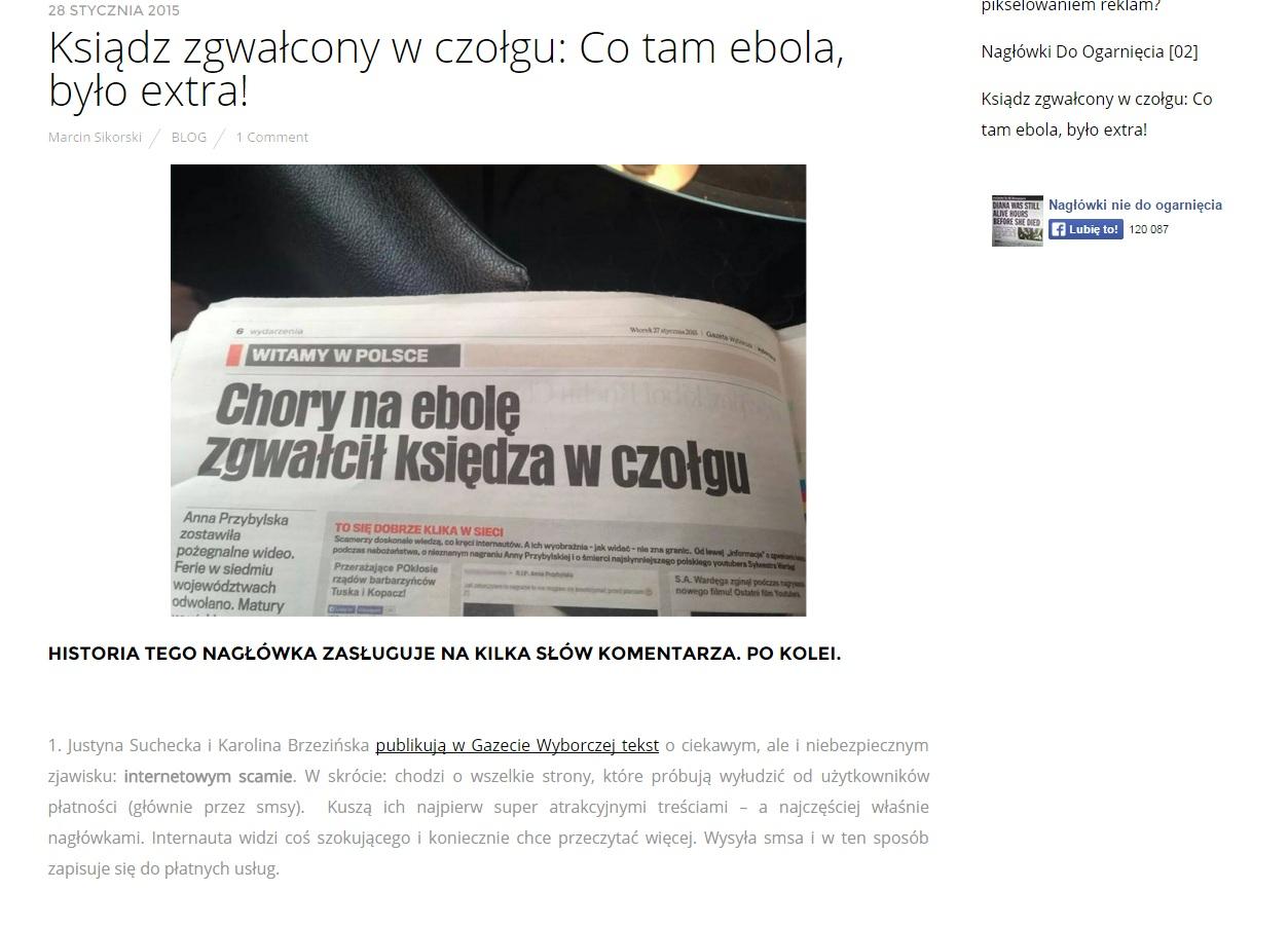 źródło - Nagłówki nie do ogarnięcia / niedoogarniecia.pl