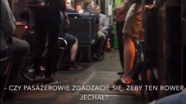 Awantura o rower w tramwaju