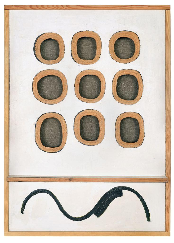 Bez tytułu, 1967, olej, tusz chiński, sklejka, Zachęta - Narodowa Galeria Sztuki / fot. Marek Krzyżanek