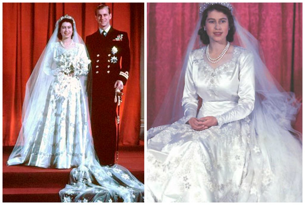Królowa Elżbieta II i książę Filip w dniu ślubu, listopad 1947 r. (fot. Wikimedia.org / Fair use)