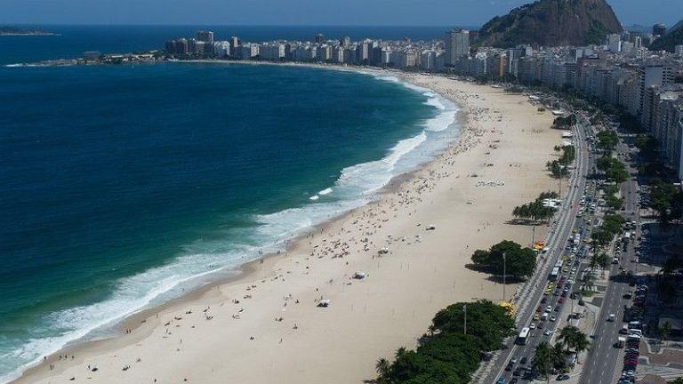 Plaża Copacabana w Rio de Janeiro