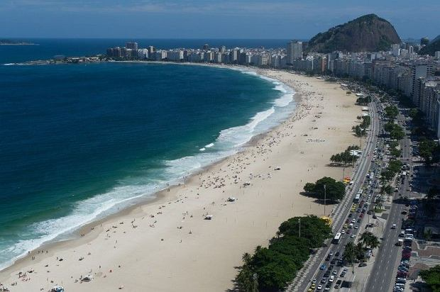 Pla�a Copacabana w Rio de Janeiro