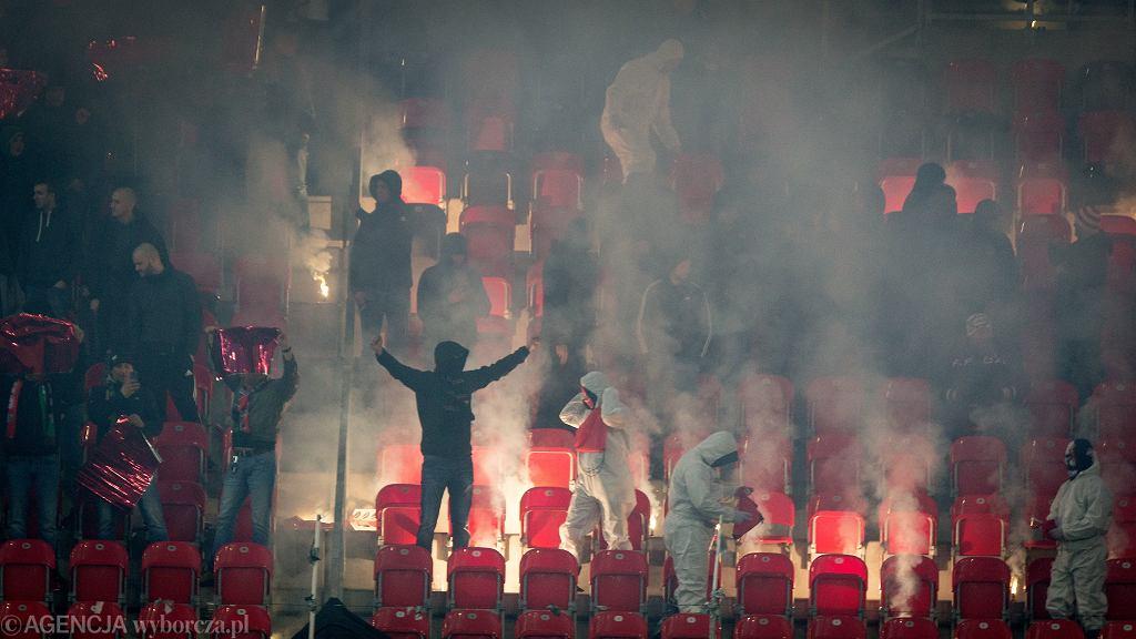 Kibice podczas meczu GKS Tychy - Ruch Chorzów