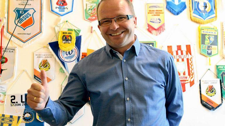 Prezes Motoru Lublin Waldemar Leszcz