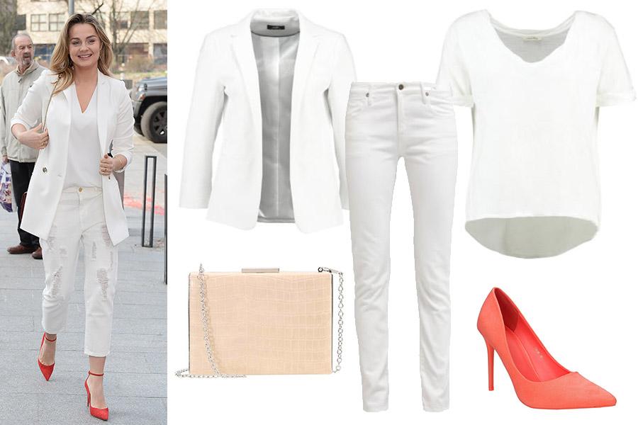 Małgorzata Socha: biały total look