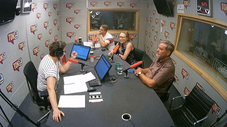 Marek Tejchman, Aleksandra Sobczak i Grzegorz Cydejko w TOK FM