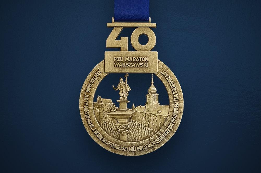 40. Maraton Warszawski. Medal