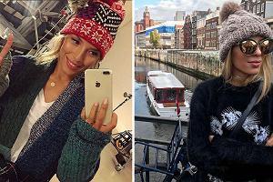 Ciepły sweter i czapka to postawa zimowych stylizacji Chodkowskiej. Zobaczcie, jakie modele wybiera trenerka