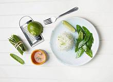 Limonkowy ry� basmati z groszkiem cukrowym - ugotuj