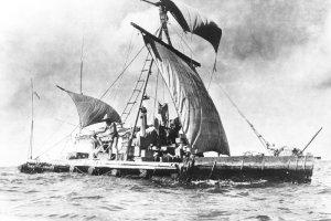 Chcieli powt�rzy� legendarn� ekspedycj� Kon-Tiki. Wyratowano ich na Pacyfiku