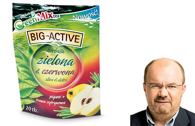 Big-Active, herbata zielona & czerwona slim & detoks, cena: 34 g - 3,99 zł
