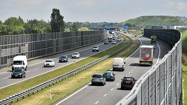 Autostrada Wolności A2 w okolicach Pruszkowa i Brwinowa