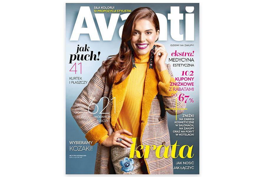 Listopadowe 'Avanti' z kuponami rabatowymi na zabiegi w salonach kosmetycznych