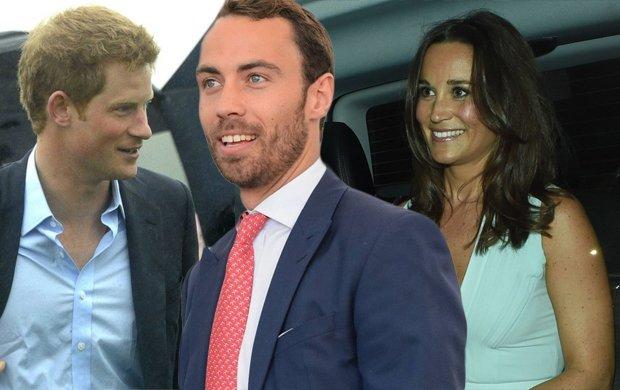 Książę Harry, James i Pippa Middleton