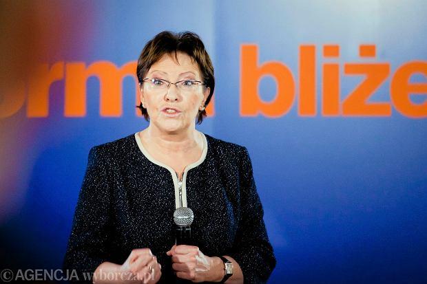 Premier Ewa Kopacz w Łomży