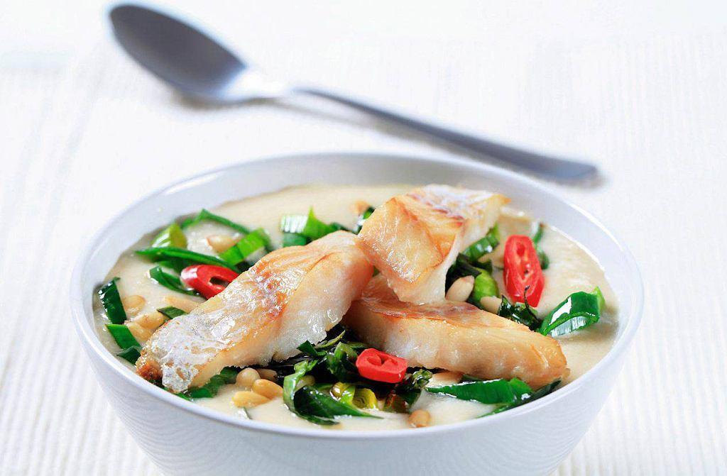 Ryba z musem z białych warzyw