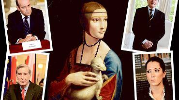 Obraz Leonarda da Vinci 'Dama z łasiczką', Maciej Radziwiłł, Piotr Gliński, książę Adam Karol Czartoryski i jego córka Tamara Czartoryska