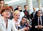 Minister Elżbieta Rafalska; protest dzieci i rodziców dzieci niepełnosprawnych w Sejmie