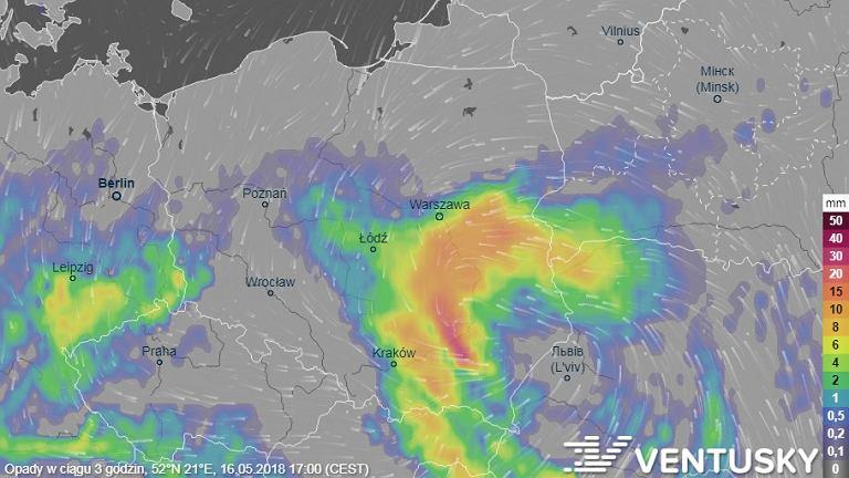 Najbardziej będzie padać na południu Polski