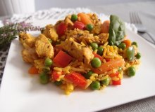 Słodko-pikantny indyk z ryżem i warzywami - ugotuj