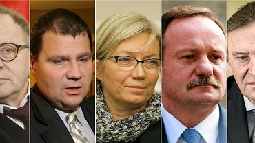 Kandydaci PiS na sędziów Trybunału Konstytucyjnego: Lech Morawski, Mariusz Muszyński, Julia Przyłębska, Piotr Pszczółkowski, Henryk Cioch