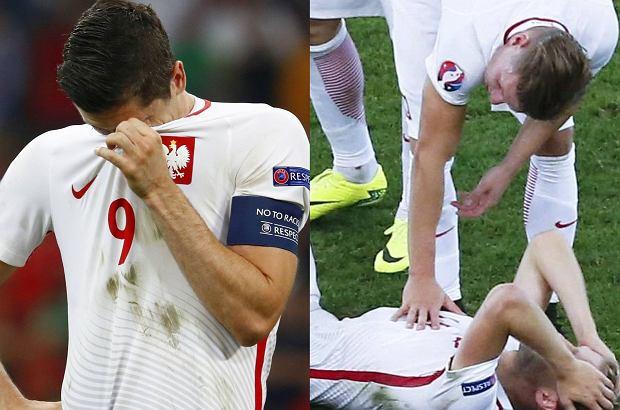 Polska po wyr�wnanej walce z Portugali� niestety musia�a po�egna� si� z p�fina�em Euro 2016. Od zwyci�stwa dzieli�o nas niewiele, jednak nie odje�d�amy z Francji w poczuciu kl�ski. To by� turniej wielkich emocji, kt�re po ostatnim meczu wzi�y g�r� nad Bia�o-Czerwonymi. Cho� nas kibic�w rozpiera duma, dla nich znacznie trudniejsze by�o ostatnie zej�cie z murawy.