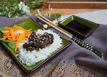 Wołowina po japońsku z ryżem - ugotuj
