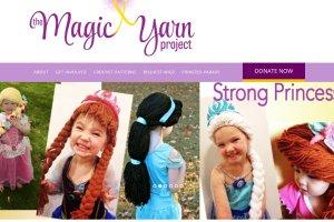 Włóczkowe peruki księżniczek dla dzieci w trakcie chemioterapii