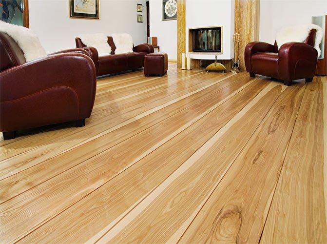 Drewniane podłogi we wnętrzu