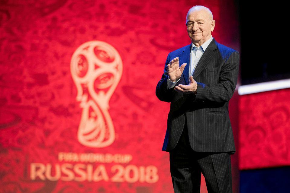Nikita Simonian na ceremonii losowania MŚ 2018