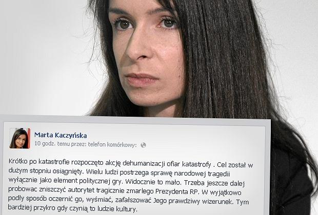 - Krótko po katastrofie rozpoczęto akcję dehumanizacji ofiar katastrofy - pisze Kaczyńska